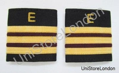 Epaulette Aircraft Engineers 3 x 1/4 Gold-Maroon with E R1065