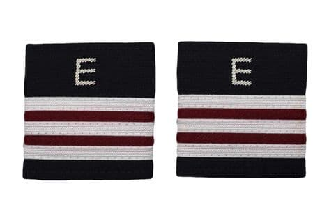 Epaulette Aircraft Engineers 3 x 1/4 Silver-Maroon with silver E