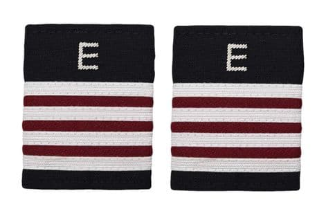 Epaulette Aircraft Engineers 4 x 1/4 Silver-Maroon with silver E