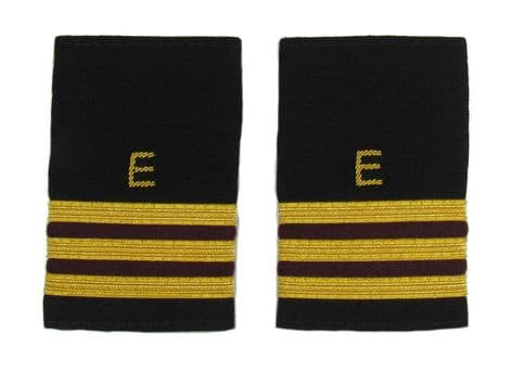 Epaulette Aircraft Engineers Gold-Maroon with E 3 Gold & 2 Maroon Bars R1751