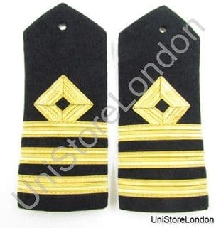 Epaulette Merchant Navy Chief officer Chief Mate Hard Curved Commander Cdr R887