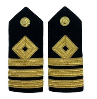 Epaulette Merchant Navy Hard Chief officer Chief Mate Button Dimond 3 Bars