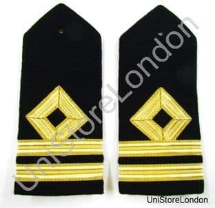 Epaulette Merchant Navy Second Officer - Second Mate Deck Hard Curved Lieutenant Lt R954