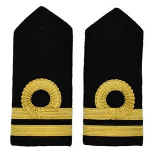 Epaulette Merchant Navy Second Officer Second Mate Deck Hard Round Curl