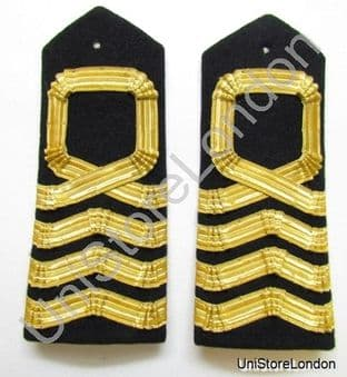 Epaulette Naval Curved Hard Square Curl for Captain R960
