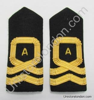 Epaulette Naval Square Curl With A 1 Bar Lieutenant Black Curved R1190