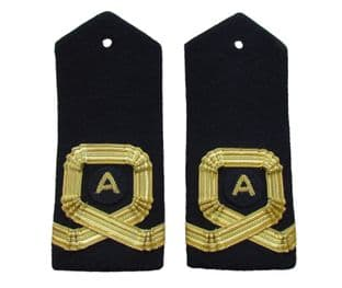 Epaulette Naval Square Curl With A Sub Lieutenant Black Curved R111