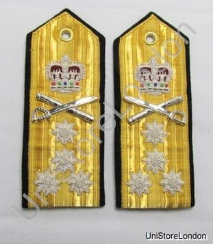 Epaulettes Admiral 4 stars Shoulder Boards with lace at Back R1115