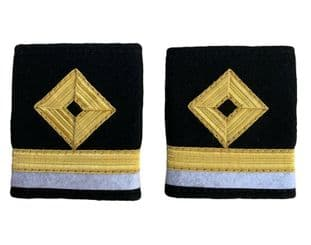 Epaulettes Dimond 1 Bar gold 1 Bar white Royal Fleet Auxiliary 3/O LS