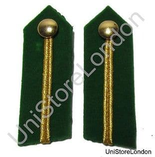 General's Service Dress Russia Braid Gorgets Green 3 1/2'' Long Sold Pair R1492