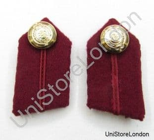 Gorget Collar Patches Maroon RAMC Clip-On  L2'' R866