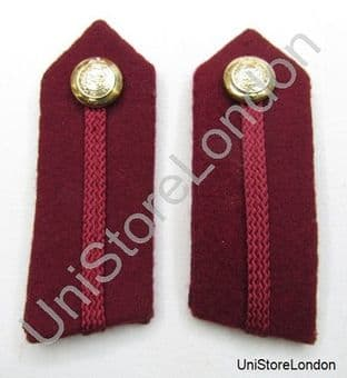 Gorget Collar Patches Maroon RAMC No. 2 Dress L3 3/4'' R862