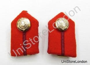 Gorget Collar Staff Gorget Patches Red Maroon Russia Braid Clip-On L2'' R864