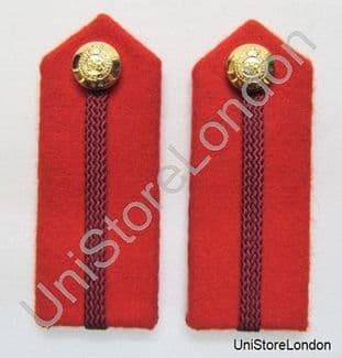Gorget Collar Staff Gorget Patches Red with Maroon L3 1/2'' R1109