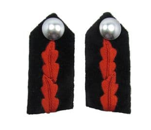 Gorget Fire Officer Shirt Collar Patch FO Red Black Clip on R1868