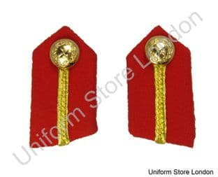 Gorget General's Clip-On Collar Patches Red with Gold Russia Braid  L2 1/4'' R860