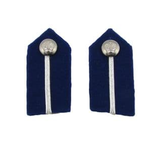 Gorget Patch Badges Silver on Blue Small Clips Assistant Commissioner of Police