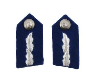 Gorget Patch Badges Silver on Blue Small with Clips Commissioner of Police