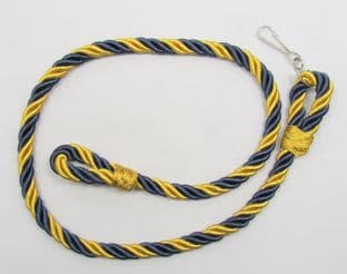 Lanyard RLC Royal Logistic Corps Dark Blue Yellow-Gold With Clip R1627
