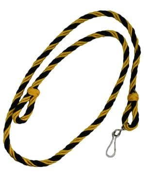 Lanyard Yellow Black  With Clip R2397