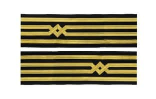 Master Uniform Cuff Braid Diamond Gold wire For  Master Chief Captain Pair R1920