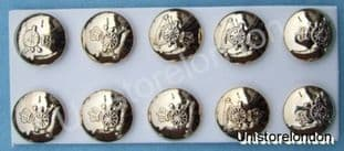 Military Buttons, Royal Artillery, Gold,size19mm R170