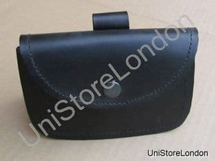 Music Card Pouch Black Leather R813