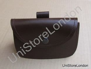 Music Card Pouch Brown Leather R814