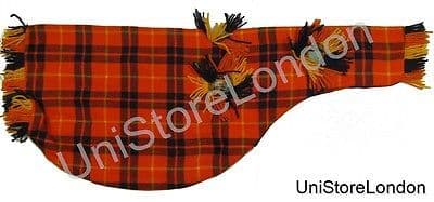 Piper Pipe bag cover for bagpipe Size 26 x 10 1/2 inch Tartan O/R/Blue R1383