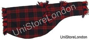 Piper Pipe bag cover for bagpipe Size 26 x 10 1/2 inch Tartan Red & Blue R1382
