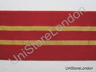 Ribbon Dark Red with 2 Gold Strips 4 inch wide R1090