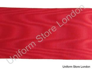 Ribbon Masonic Red Water Waves 4 Inch Sold By Meter R1599