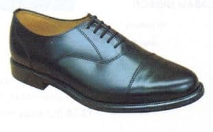 Shoe Black Mens Toe Cap Oxford with leather sole R427