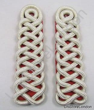 Shoulder Board Guards Shoulder Cord Silver on Red Sold Pair R1480