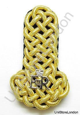 Shoulder Board Naval All Gold Wire Board With Silver EIIR Sold Single B7 R1030