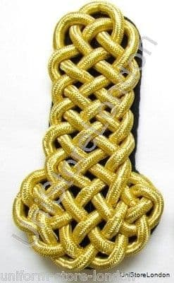 Shoulder Board Naval All Gold Wire Cord Black Backing Sold Single R972S