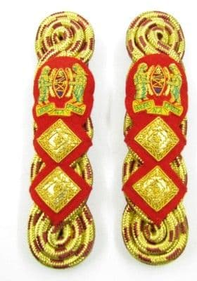Shoulder Cord Gold & Red Maylar Cord Red Backing Strap Tanzania Colonel