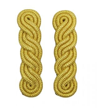 Shoulder Cords in Gold Mylar 3 ply x 5 Curls 4.5 inch For Ladies R1935