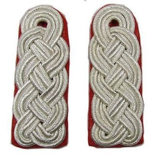 Shoulder Cords Silver On Red Backing R1747