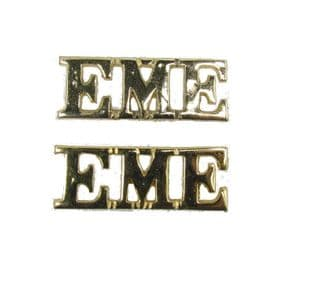 Shoulder Title EME Gold Shank & pin Size 40 x 15 mm Sold Pair R1714