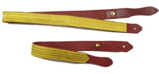 Slings Long & Short Sword All Gold Braid on Red Leather R1006