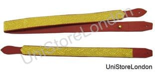 Slings Long & Short Sword All Gold Oak Leaf Braid on Red Leather R1394