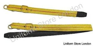 Slings Long Short Sword Gold Red Gold Braid on Black Leather R1553