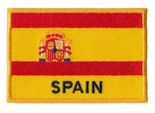 Spain Flag Patch Embroidered Iron - Sew on Patch Spain For Hat, Bag T Shirt