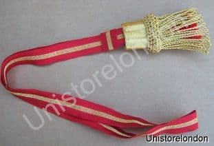 Sword Knot French Napoleonic Guard NCO Red 5mmGold B12 R628