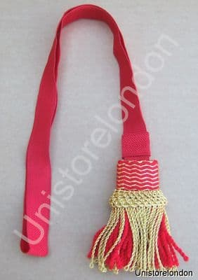 Sword Knot French Napoleonic Guard NCO Red Gold R630