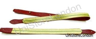 Sword Slings Long & Short Gold Green Gold Braid Infantry Red Leather - R1041