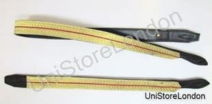Sword Slings Long & Short Gold-Red-Gold Braid Infantry Black Leather - R1045