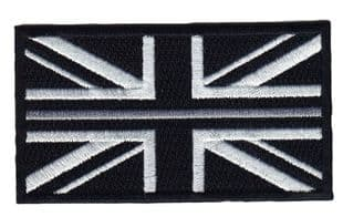 Thin Grey Line Union Jack Hook & Loop backed patch Emergency Services UK