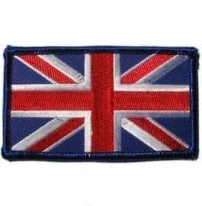Union Jack Iron on or Sew on Cloth Badge Embroidered R482